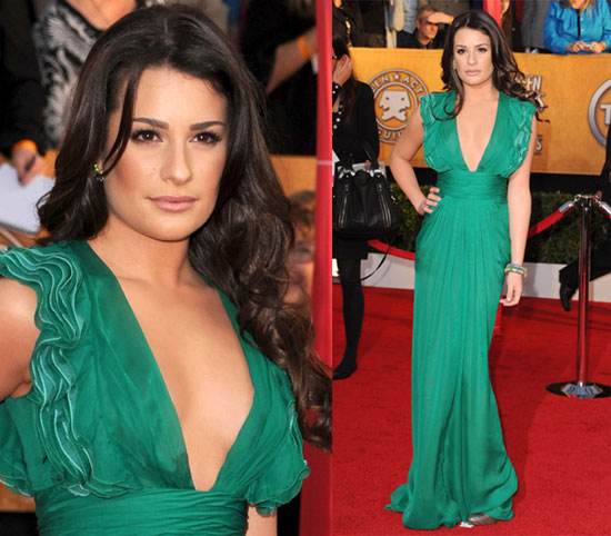 golden globes 2010, red carpet, lea michele lea michele Lea Michele of Glee
